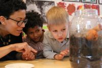 Students engage in the integration of art, science and language