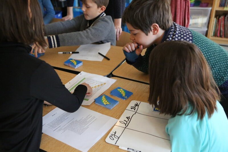 Students learn math through immersion in the principles, language, concepts, and skills of thinking